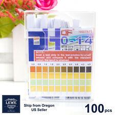 100pcs Ph Indicator Test Strips 0 14 Laboratory Paper Litmus Tester Urine Saliva