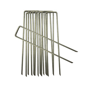 10-1000 Galvanised Anchor Pegs, Corona Membrane Pins,Secure Weed Control Fabric