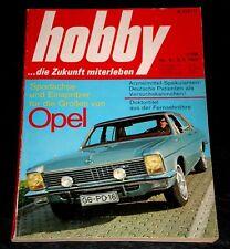 Hobby 05/69 Opel Admiral, Opel Diplomat, Opel Kapitän, BMW F2-Renner,Schneemobil