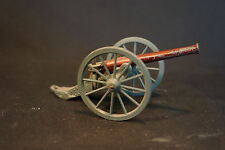 Old Vtg Collectible Military Artillery Cannon W/Wheels Toy Red Grey