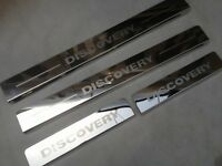LAND ROVER DISCOVERY LR3 LR4 Stainless Steel Door Sills Scuff Protractor Plates
