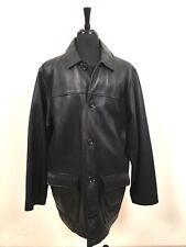 Field Gear Thick Leather Black Supernatural Jacket Coat Men's Large L Tall sz LT