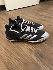 New Adidas Afterburner 4 Men's 12 Metal Baseball Cleats Black/Silver - CG4782