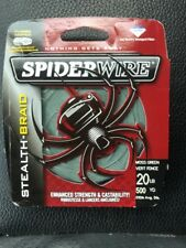 Spiderwire Stealth Braid 20 Lb 500 Yd Spool Moss Green Fishing Line