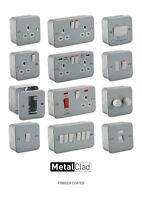 METAL CLAD ELECTRICAL FITTINGS SWITCHES AND SOCKETS INDUSTRIAL WORKSHOP GARAGE