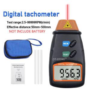 LCD Contagiri Digitale Laser RPM Tach Meter Indicatore di velocità del motore