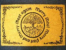 MERRY MEET DOORMAT Pagan Wiccan CELTIC WITCH Welcome Mats ENTRANCE DOOR HALL