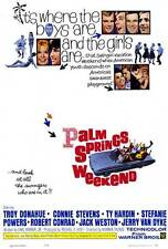 PALM SPRINGS WEEKEND Movie POSTER 27x40 Troy Donahue Ty Hardin Connie Stevens