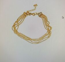 Ladies Fashion BALL-LINK MULTI-STRAND BRACELET 20cm 18k gold plated