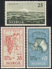 Norway 1957 IGY/Polar/Antarctic/Exploration/Science/Mountains/Maps 3v (n33420)