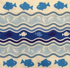 2 single paper napkins decoupage collection Servietten Serwetki Fish Fishes
