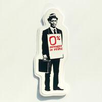 Banksy Sticker Salesman Vinyl Decal 0% Interest in People Street Art Skate Surf