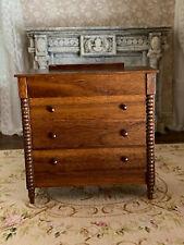 Vintage Miniature Dollhouse Gerald Crawford RARE Dresser Walnut Wood Elegant