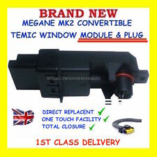 NEW TEMIC FOR RENAULT MEGANE CONVERTIBLE CC WINDOW MODULE + WIRING PLUG HARNESS