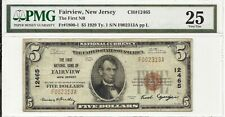 1929 $5 NATIONAL BANKNOTE ~ FAIRVIEW, NEW JERSEY ~ BERGEN COUNTY ~ PMG VERY FINE