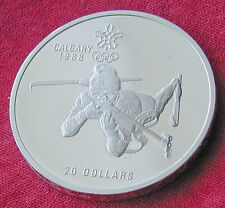 1988 Calgary Winter Olympics 1 oz silver coin - biathlon