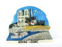 Paris Magnet Poly Reise Souvenir France,Notre Dame Kirche,7,5 cm !