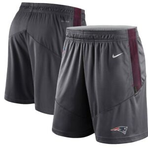 NEW Men's New England Patriots Nike Charcoal Sideline Performance Knit Shorts LG