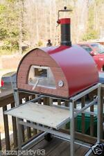 Pizza Party oven RED + Support with Wheels + Glass Door + 2 Pizza Peel spacesave