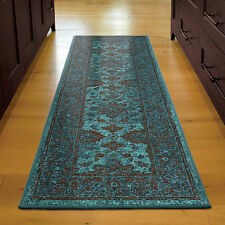 2x8 2 3 X 8 Runner Traditional Oriental Teal