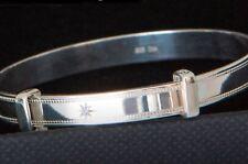Sterling Silver 925 Bracelet Bangle Baby Shower Baptism Christening Newborn Gift