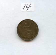 Great Britain 1878 Farthing Choc. Color Almost . (#14) Check Out the Photos.