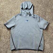 Nike New England Patriots Showout Short-Sleeve Hoodie Grey AO5428-021 2XL $150