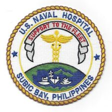 US Naval Hospital SUBIC BAY PHILIPPINES Military Patch - SUPPORT TO THE FLEET