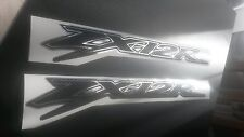 kawasaki ZX12R (2 of) carbon fibre effect and chrome outline decals zx12r