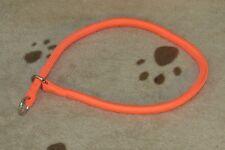 "Dog Pet Puppy Training Supplies Round Braid Nylon Choke Collar Orange 24"" Sale"