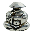 Ormex Mexico Vintage Sterling Silver Buddha Shaped Perfume Bottle