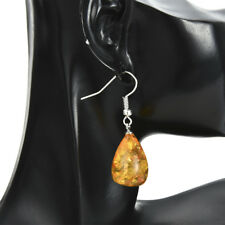Amber Jewelry Pure S925 Silver Exquisite Natural Amber Earrings for Women Gifts