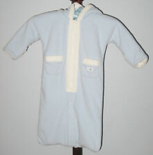 babyGAP Size 3-6 Months Boy Light Blue Fleece Wearable Blanket Hooded Bodysuit