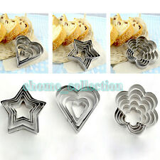 High Quality Full Steel 20pcs Heart/Star/Round/Plum blossom Fruit Cookie Cutters