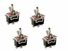 4 SPDT ON/Momentary On 15A Toggle Switches 1/2 Mount 2 position