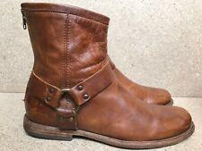 FRYE Men's Phillip Harness Boot Cognac Brown Size 9 D