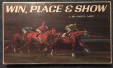 Win Place & Show Board Game 3M 1966 Vintage & Complete Horse Racing