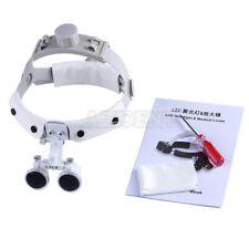 Dental Portable Magnifier Surgical Medical Binocular Loupes Led Head Light Lamp
