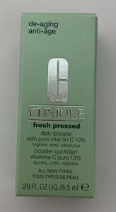 Clinique Fresh Pressed Daily Booster with Pure Vitamin C 10%, .29oz /8.5 ml NIB