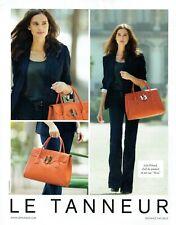 Publicité Advertising 039  2012   le Tanneur sac Nina avec Julie Erhard