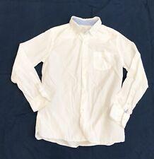 Boys JCrew Crewcuts Solid White Buttondown Shirt Sz 12 EEUC