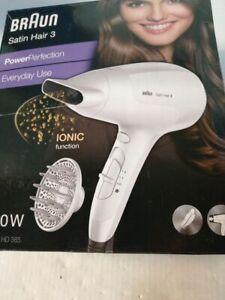 Braun Satin Hair 3 Power Perfection Haartrockner HD 385, mit IonTec und Diffusor