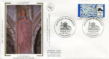 FRANCE FDC - 3021 1 CATHEDRALE DE CHAMBERY - 8 Juin 1996 - LUXE sur soie