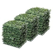 Yescom 06AGS005-1010-04 10 x 10 inch Boxwood Artificial Hedge Privacy Fencing Mats - 24 Pack