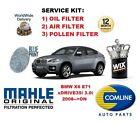 para BMW X6 E71 RIVE 35 3.0 4x4 2008> DE ACEITE FILTRO AIRE POLEN Kit servicio