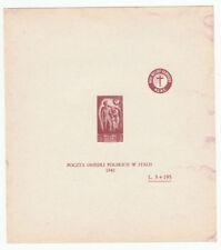 Splendido foglietto francobolli corpo polacco italiano prova di stampa? 5 + 195
