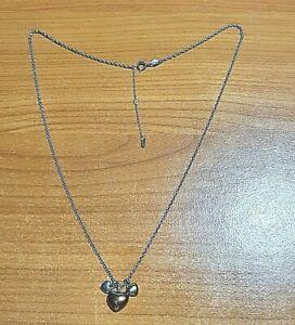FOSSIL Halskette silberfarbig 3 Herz-Anhänger