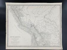 Old Antique Map South America Bolivia Peru Print Lithograph Brazil Original Rare
