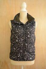 Gap - Navy blue FLORAL sleeveless puffer zippered vest, size XS