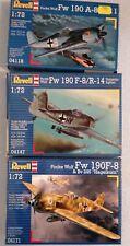 Revell 1:72, 3 X Focke Wulf Fw 190